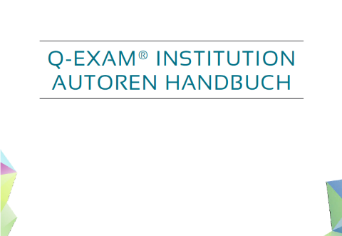 Q-Exam Institution - Autorenhandbuch